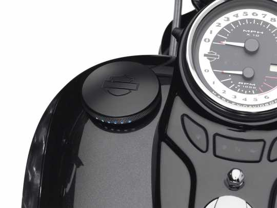 Harley-Davidson Diamond Black LED Fuel Gauge  - 75358-10A