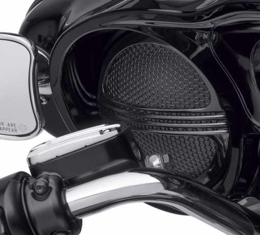 Harley-Davidson Defiance Batwing Fairing Speaker Grills black  - 76000686