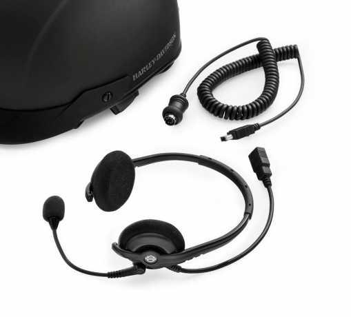 Harley-Davidson Boom! Audio Premium Half Helmet Music & Communications Headset  - 76000730