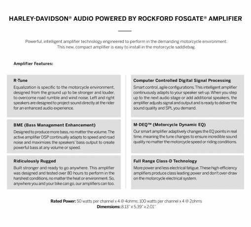 Harley-Davidson H-D Audio by Rockford Fosgate Verstärker 4x100W  - 76000997
