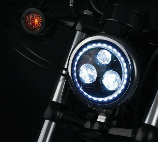 """Küryakyn Küryakyn LED Scheinwerfer 5 3/4"""" Orbit Vision schwarz  - 77-2462"""