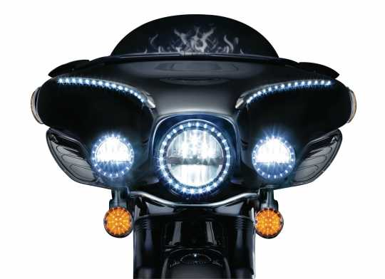 "Küryakyn Küryakyn 3-1/4"" flache LED Front Blinker, orangene Linse  - 77-5440"