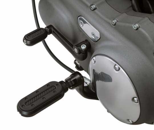 Küryakyn Küryakyn Heavy Industry Footpegs, with Adapter, black  - 77-7032