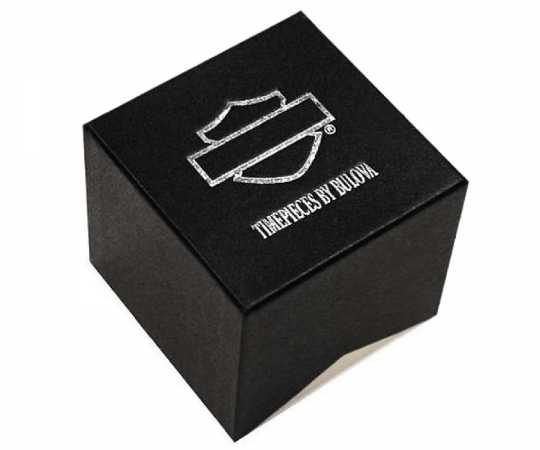 Bulova Harley-Davidson Watch Double Wrap Swarovski Crystals  - 77L109