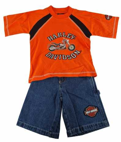 H-D Motorclothes Harley-Davidson Unisex Jeans Shirt Set Orange  - 81917V