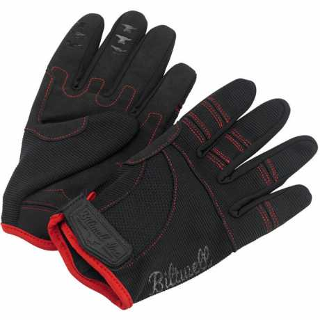 Biltwell Biltwell Moto Gloves, black / red  - 956931V