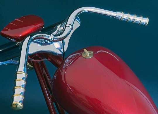 Kustom Tech Kustom Tech Vintage Griffe für Internal Throttle alu & messing poliert  - 89-0466