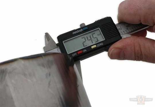 TXT Customparts TXT, Fender Raw, Width: 270mm, Diameter: 740mm, Arc Length 560  - 89-0644