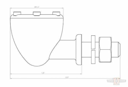 Chopper Kulture Chopper Kulture Turn Signal polished & brass  - 89-2149