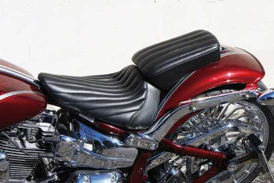 Easyriders Japan Easyriders Pillion Pad, Vertical, Synthetic Leather, Urethane Foam, Black  - 89-3805