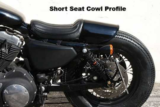 Easyriders Japan Easyriders Tail Section, Short Seat Cowl, Smooth, Black  - 89-3820