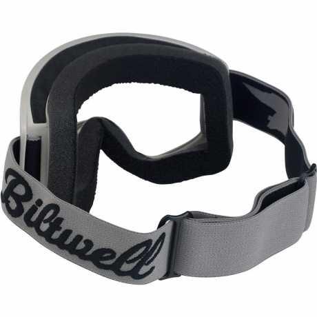 Biltwell Biltwell Goggles Moto 2.0, Script titanium / black  - 956178