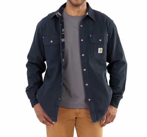 Carhartt Carhartt Weathered Canvas Shirt, navy  - 89-4048V