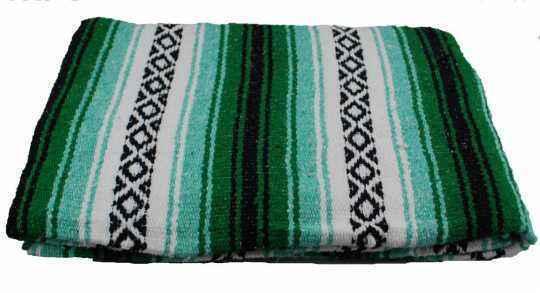 LaRosa LaRosa Mexican Serape Roll-up Tasche grün  - 89-5041