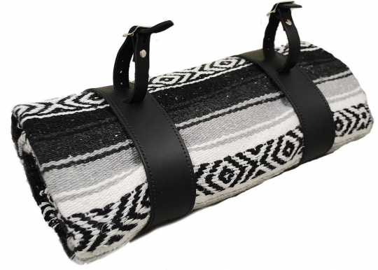LaRosa LaRosa Mexican Serape Roll-up Tasche schwarz & weiss  - 89-5044