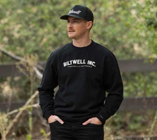 Biltwell Biltwell Basic Crew Neck Sweatshirt schwarz  - 90-0547V