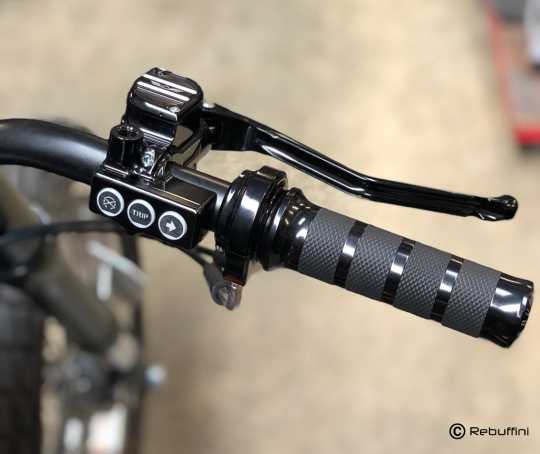 Rebuffini Rebuffini RR90 Armaturen Set hydraulisch, Spiegel oben, schwarz  - 91-7269