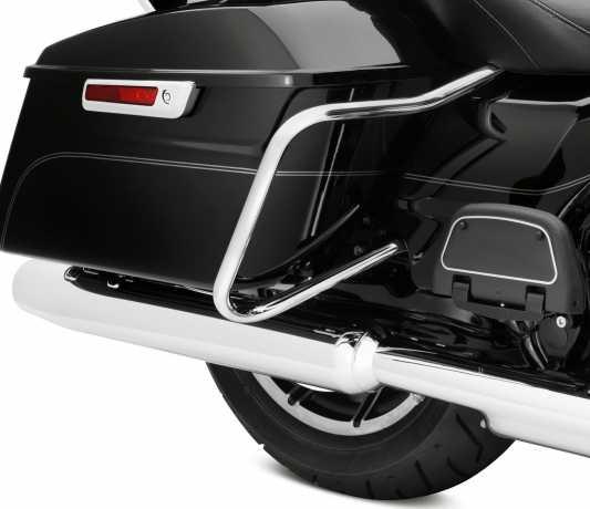 Harley-Davidson Satteltaschen Schutzbügel & Träger Kit Hinten chrom  - 90200787