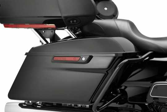 Harley-Davidson Saddlebag Latch and Hinge Kit, gloss black  - 90200914