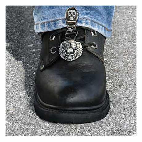 Ryder Clips Ryder Front Laced Boot Clips Bones/Skull  - 904301