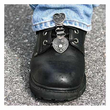 Ryder Clips Ryder Front Laced Boot Clips Heart/Skull  - 904306