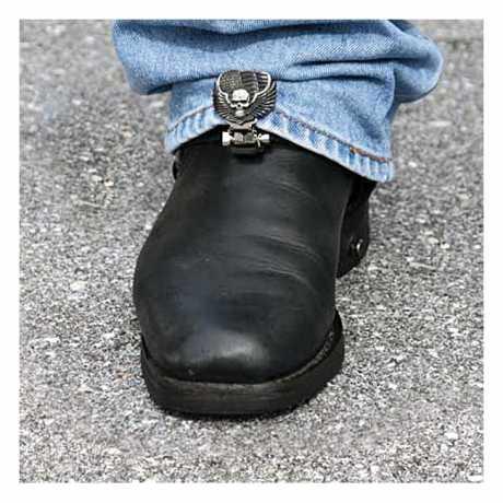 Ryder Clips Ryder Front Stirrups Boot Clips Heart/Skull  - 904314