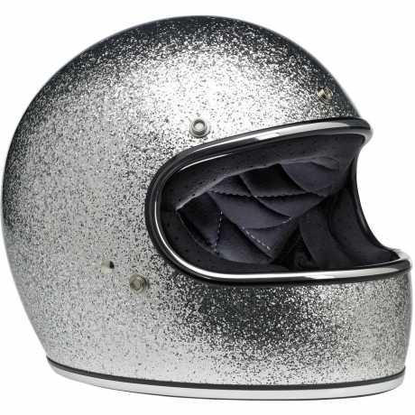 Biltwell Biltwell Gringo Helm ECE Brite Silver Metalflake  - 91-1942V