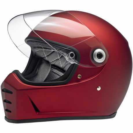 Biltwell Biltwell Lane Splitter Full Face Helmet, DOT/ECE, Flat Red  - 91-2044V