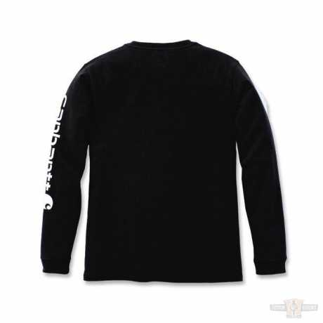 Carhartt Carhartt Damen Longsleeve Workwear Sleeve Logo schwarz  - 91-4971V