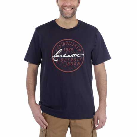 Carhartt Carhartt Workwear Detroit Born T-Shirt Navy blau  - 91-5042V