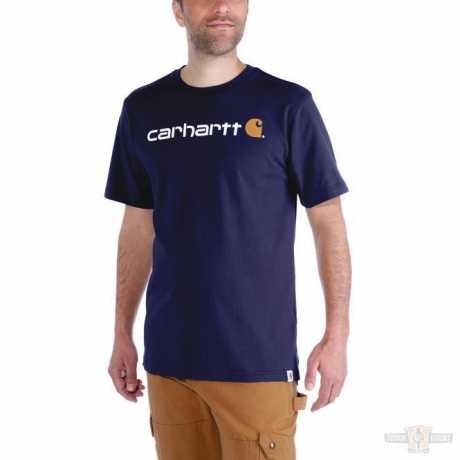Carhartt Carhartt Logo Workwear T-Shirt Dark Navy  - 91-5138V