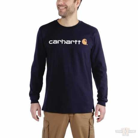 Carhartt Carhartt Longsleeve Workwear Signature Logo Navy blau  - 91-5150V
