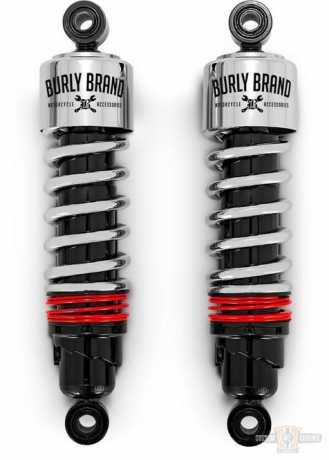 "Burly Brand Burly Slammer Plus Shocks 11.5"" chrome  - 91-5890"