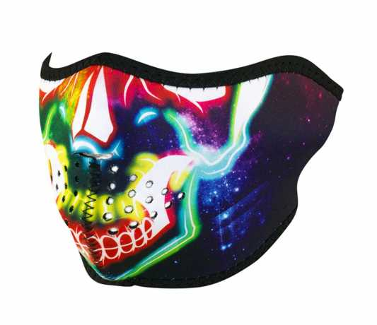 ZANheadgear ZANheadgear 1/2 Gesichtsmaske Neopren Electric Skull  - 91-5928