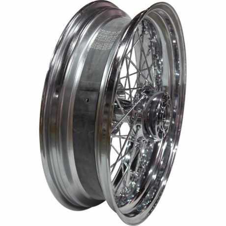 """Custom Chrome 19 x 2.5"""" Front Wheel, 40-Spoke, Chrome  - 91-6374"""