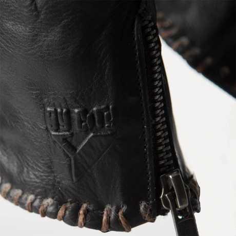 By City By City Winter Skin gloves black/cream  - 919663V