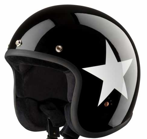 Bandit Bandit Jet Helmet Star black & white ECE 2XL (62) - 947288