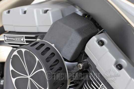 Thunderbike Abdeckung für Einspritzanlage VA Lang | black wrinkle - 96-72-200