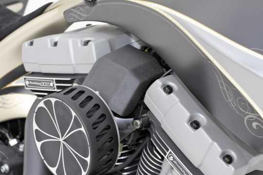 Thunderbike EFI Cover Stainless Steel long | black wrinkle - 96-72-200