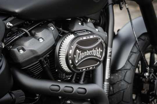 Thunderbike Airbox Luftfilter Kit Oval schwarz matt - 96-74-045