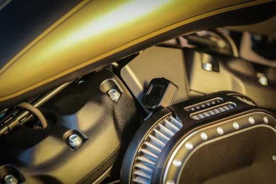 Thunderbike EFI-Cover mit Manometerhalter schwarz wrinkle  - 96-77-180