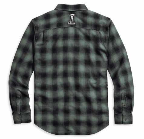 H-D Motorclothes Harley-Davidson Plaid Shirt #1 Skull black/green  - 96107-20VM