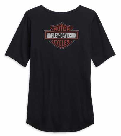 H-D Motorclothes Harley-Davidson women´s Henley Shirt Bar & Shield black M - 96148-21VW/000M