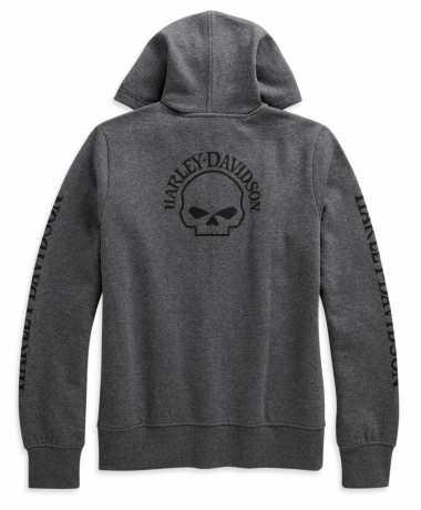 H-D Motorclothes Harley-Davidson Damen Zip Hoodie Skull grau meliert  - 96180-21VW