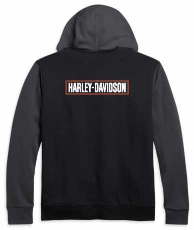 H-D Motorclothes Harley-Davidson Zip Hoodie Colorblock black/grey  - 96191-21VM