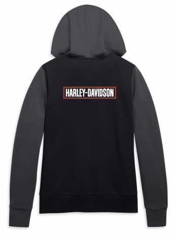 H-D Motorclothes Harley-Davidson Damen Zip Hoodie Colorblocked grau/schwarz  - 96219-21VW