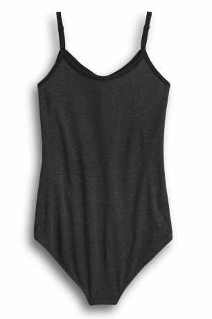 H-D Motorclothes Women's Striped Logo Bodysuit dark grey  - 96259-20VW