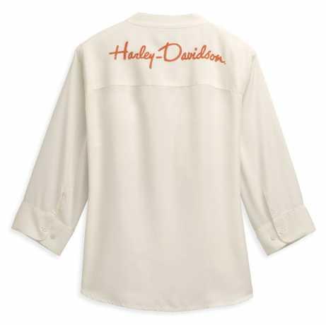 H-D Motorclothes Harley-Davidson Damen Hemd Two Pocket weiß  - 96469-21VW