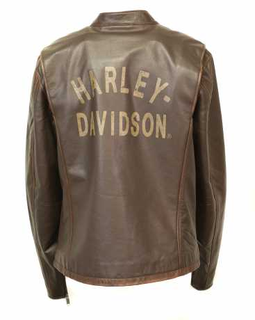H-D Motorclothes Harley-Davidson Leather Jacket Distressed Print brown  - 97015-20VH