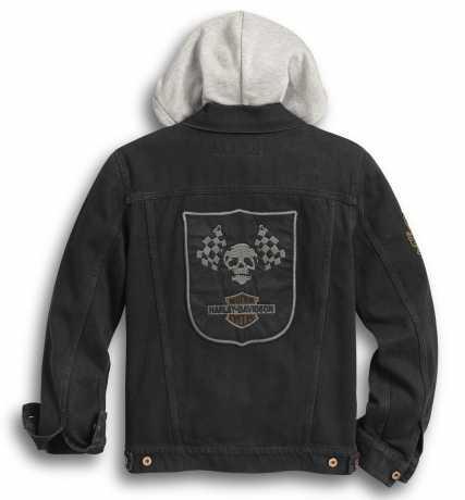 H-D Motorclothes Harley-Davidson Denim Jacket Hooded black  - 97427-20VM
